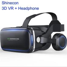 3D VR очки shinecon VR Очки виртуальной реальности 3D очки гарнитура шлем для iPhone Android смартфон стерео Прямая