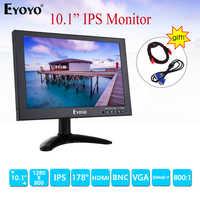 """EYOYO EM10E 10 """"moniteur IPS 1280X800 écran LCD avec VGA AV HDMI pour caméra de sécurité CCTV DVD TV ordinateur PC moniteur"""