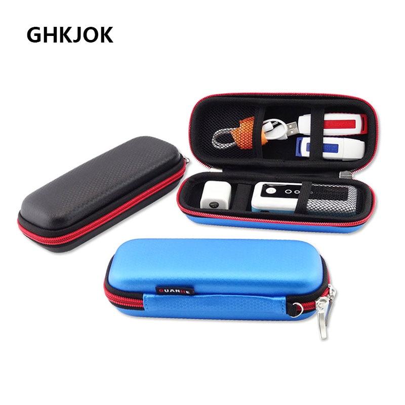 Original USB Flash Drives Carrying Organizer Case Power Bank Storage Protection Pouch Bag USB Bank Key Power Bank Earphone