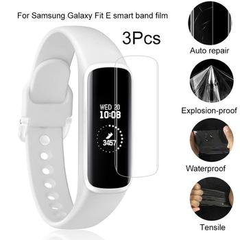 3Pcs Anti-Scratch Smart Bracelet Screen Protector Film for Samsung Galaxy Fit E 3pcs protective flim screen protector ultra thin clear lcd guard shield cover skin for samsung galaxy fit fit e bracelet tools