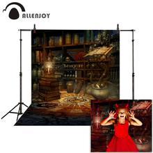 Allenjoy 사진 배경 신비한 마술 책 선반 촛불 빈티지 스타일 배경 사진 스튜디오 카메라 fotografica