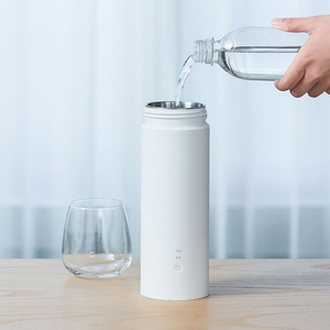 Image 3 - Youpin Viomiสมาร์ทไฟฟ้าถ้วย 400MLมินิแบบพกพาถ้วยความร้อนฉนวนกันความร้อนสแตนเลสThermosขวดไฟฟ้าถ้วยท่องเที่ยว