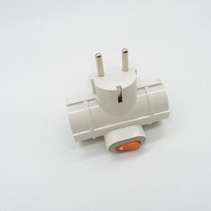 Image 3 - Adaptador de tomada ue 1 para 3 saídas, adaptador de tomada ue 4.8 plug de tomada,