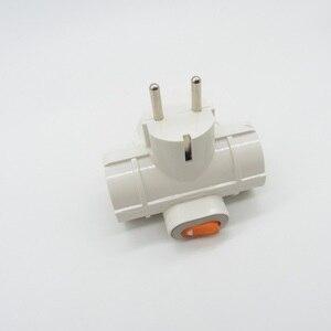 Image 3 - Enchufe europeo de 1 a 3 divisor de formas, adaptador de enchufe europeo, Rusia, Alemania, Corea, Adaptador De Corriente De Viaje, 4,8