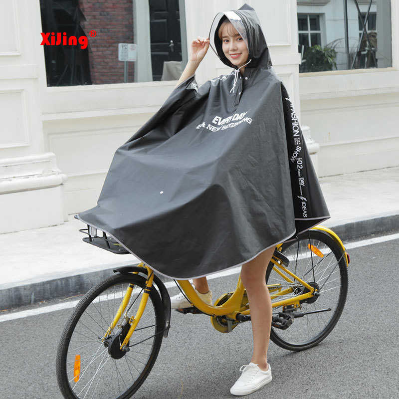 High quality Mens Womens Cycling Bicycle Bike Raincoat Rain Cape Poncho Hooded Windproof Rain Coat Mobility Scooter Cover