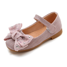 Buy Autumn New Girls Shoes Kids Princess Shoes For wedding and Party Soft bottom single Shoes Girls Leather Shoes Pink Silver 3-15T directly from merchant!