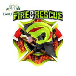 EARLFAMILY 13cm For Fire Rescue Personality Car Sticker Interesting Decal Waterproof Scratch-Proof Decals Sunscreen Decoration