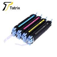 Tatrix premium remanufaturado q6000a q6001a q6002a q6003a 124a do cartucho de toner da cor do laser para hp laserjet 1600 2600n