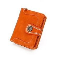 1PC 2020 Women Lady Clutch Short PU Leather Wallet Long Card
