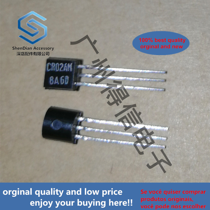10pcs 100% Orginal New CR02AM-8 CR02 TO-92 Thyristor Low Power Use Real Photo