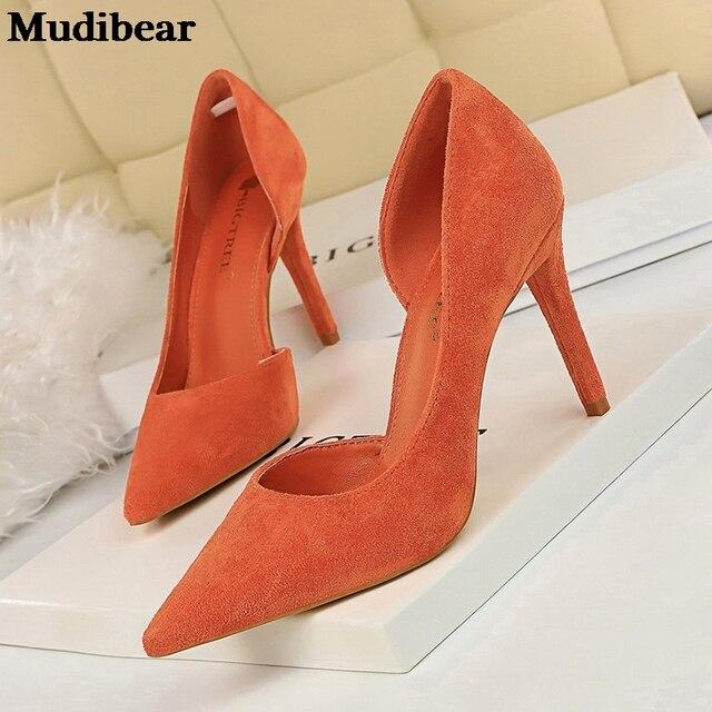 Фото туфли mudibear женские на высоком каблуке модные туфли лодочки цена