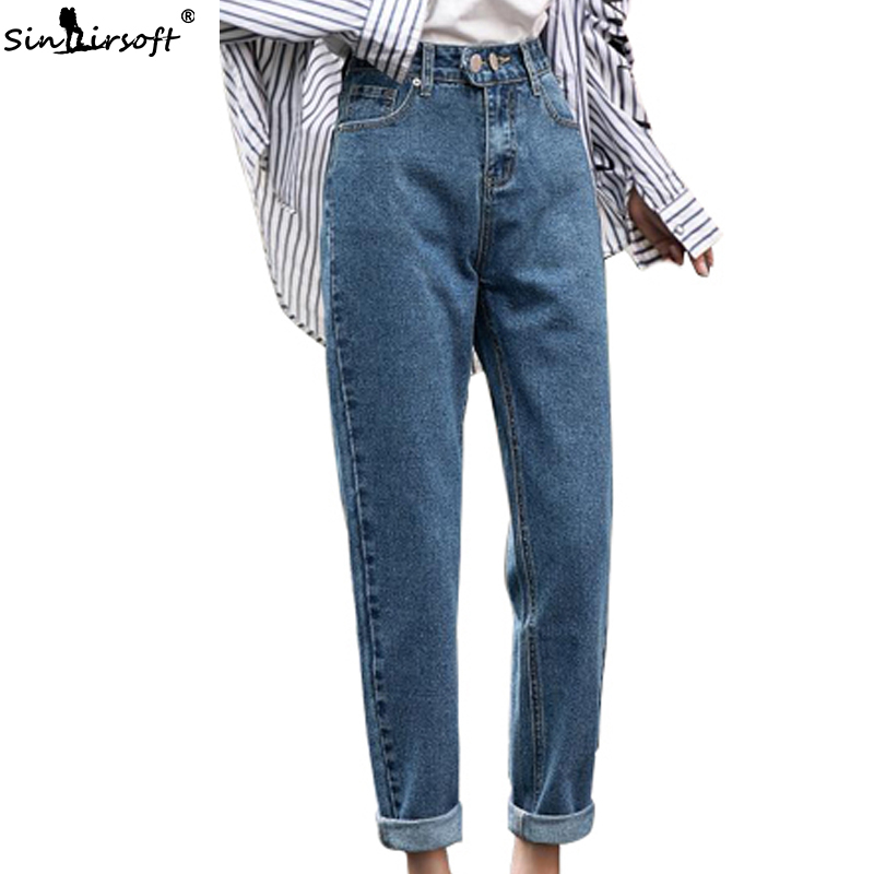 Women's Autumn New Korean Version Of Hip Hop Jeans Mujer Women Solid Color Fashion Casual Wild Feet Pencil Denim Pants Woman