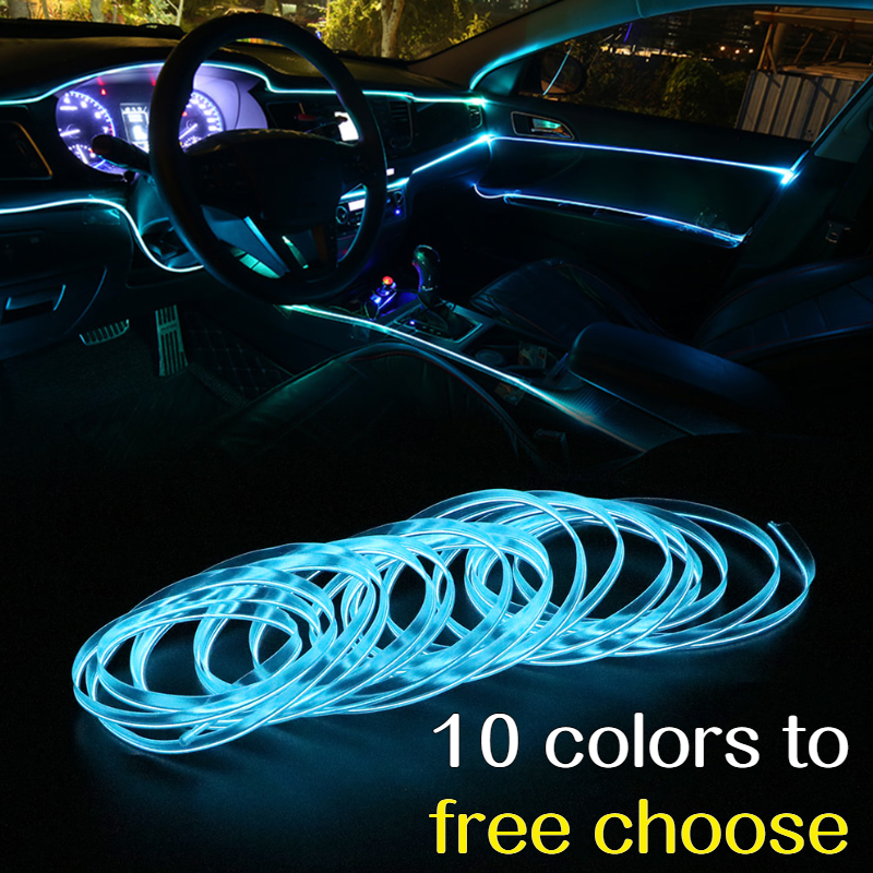 For Mercedes Benz AMG A45 CLA45 C63 GLA45 G63 W203 W204 W168 W124 Auto Interior Accessories Car LED Glowing Line Light Sticker