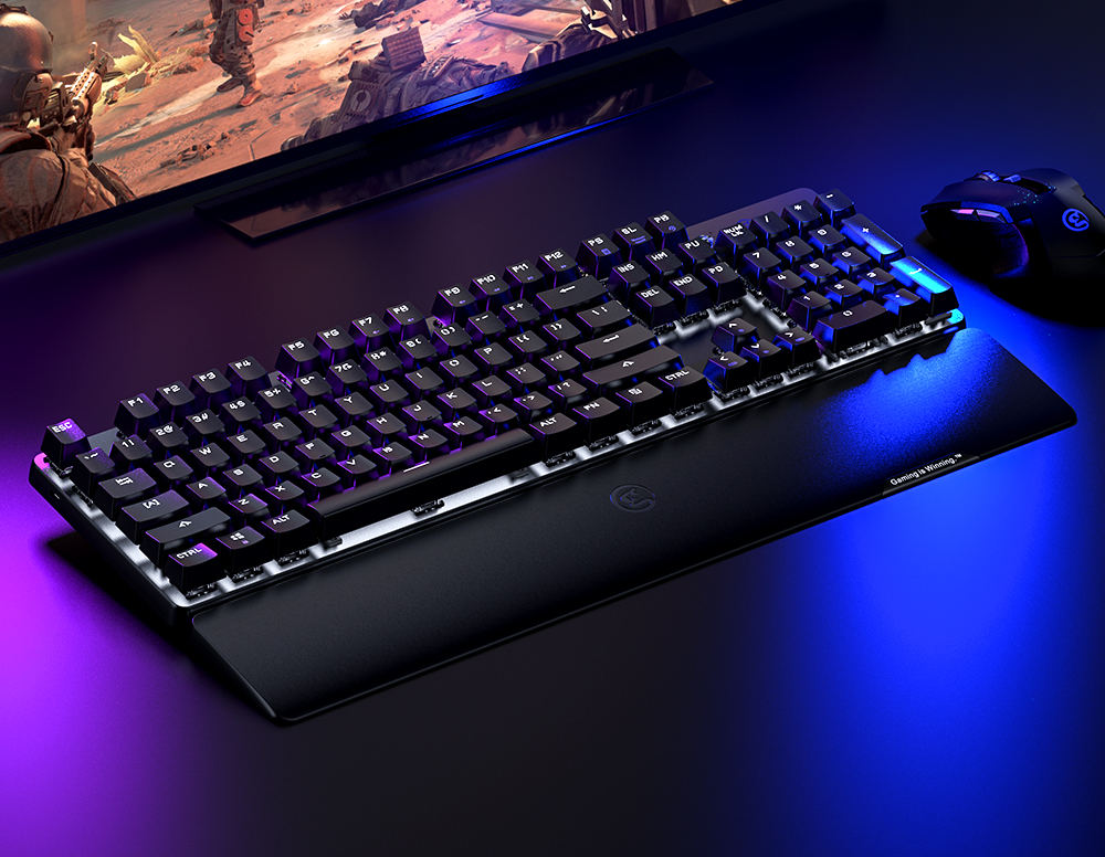 Image 2 - GameSir GK300 Gray Wireless Mechanical Keyboard 104 TTC Blue Switches Gaming Keyboard For PUBG FPS Games For PC/iOS/Android-in Gamepads from Consumer Electronics