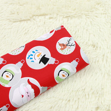 Santa Printed Cotton Poplin Fabric Pure For Christmas DIY Sewing Quilting Patchwork Poplic Baby