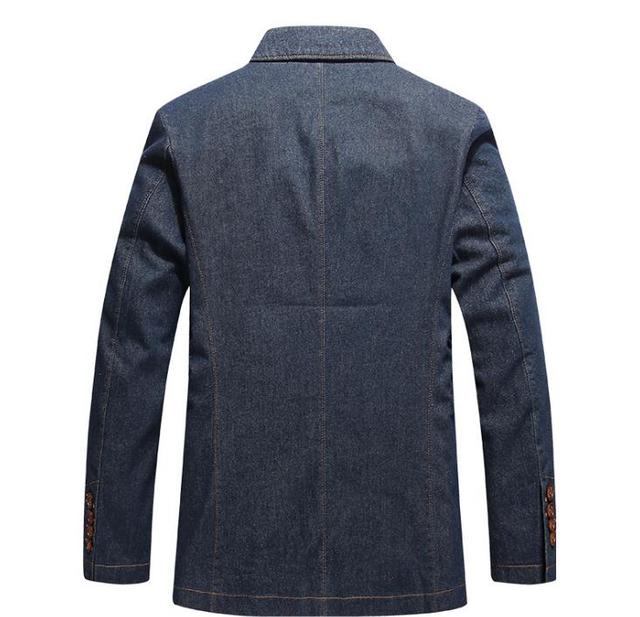 Autumn Suits Men's Cowboy Suit Coat Mens Blazer Homme Denim Jacket Business Leisure Spring Outerwear Men Blazers Tops Big XXXXL