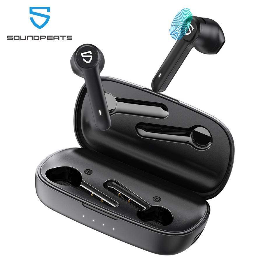 SoundPEATS TrueBuds True Wireless Earphones Bluetooth 5 0 Touch Control TWS Earbuds with 2600mah Charging Case
