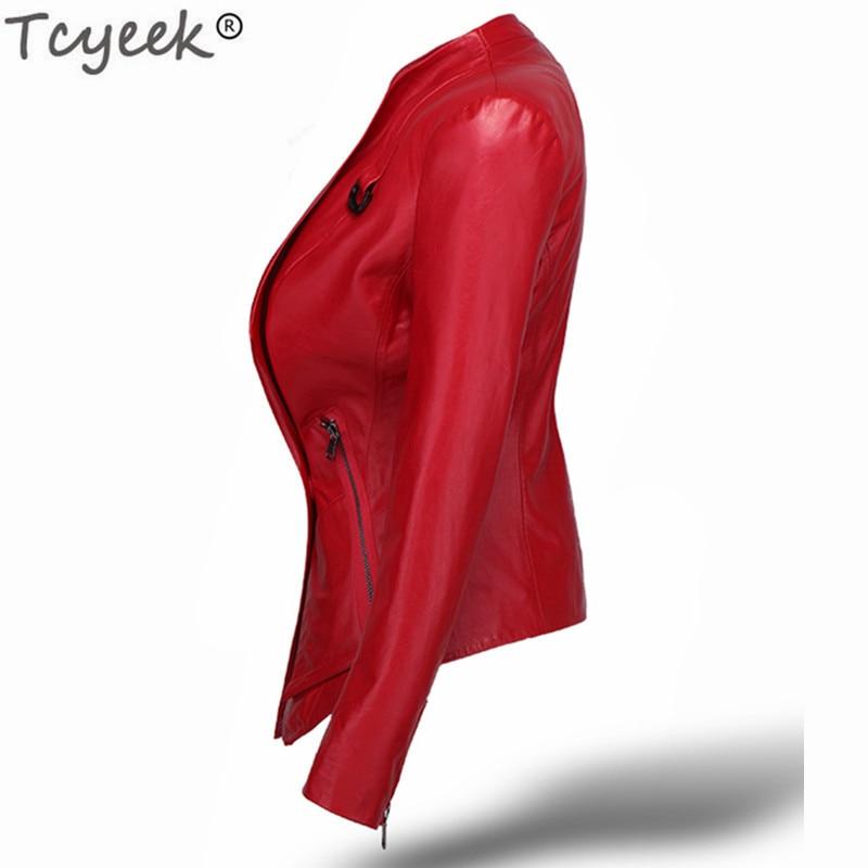 100% Real Sheepskin Coat Natural Genuine Leather Montone Jacket Women Slim Short Spring Autumn Plus Size Outwear LWL1474