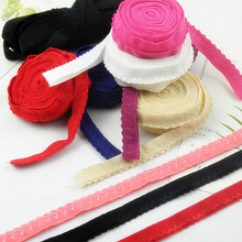 Fold-Over Underwear Elastic-Band Ribbon Pants Edge-Trim Lace Stretch Soft for Bra 8m/Lot