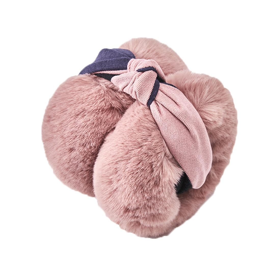 Women Solid Color Foldable Plush Earmuffs Earflaps Winter Ear Warmers Covers Oor Warmers Christmas Gifts детская зимняя маска