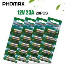 PHOMAX 20pcs 23a 12v alkaline dry battery A23 21/2