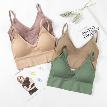 Women Sexy Crop Tops Tube Top Female Streetwear Sleeveless Seamless Actival Lingerie Solid Breathable Thin Tee Bra Top Tank women tube tops sexy crop top seamless underwear v back wrapped chest streetwear sleeveless female fitness bandeau top tank