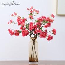 Günstige Künstliche Blumen Kirschblüte Niederlassungen Silk Gefälschte Blume Hochzeit Room Home Dekoration Topfpflanzen Valentines Tag Geschenk