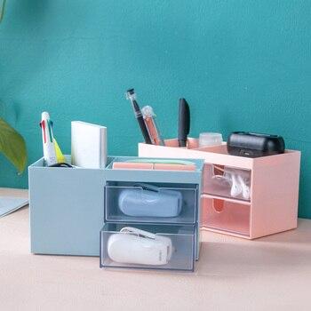 Nordic Style Multifunctional Plastic Pen Holder Desk Organizer Cosmetic Storage Box Desktop Drawer Storage Organizer Sundrie недорого