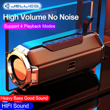 Jellico Bluetooth Outdoor Speaker Waterproof Portable Wireless 3D Stereo Music Surround Loudspeaker Support TF Card Aux Input