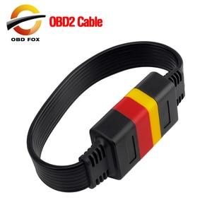 Image 1 - Uniwersalny kabel przedłużający OBDII 16Pin pojazdy samochodowe OBD2 męski na żeński przedłużacz samochodowy system OBD kabel diagnostyczny