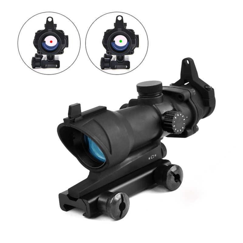 Trijico ACOG 1X32 kırmızı nokta görüşü Optik Tüfek Kapsamları ACOG Red Dot Kapsam Avcılık Kapsamları için 20mm Ray airsoft Silah