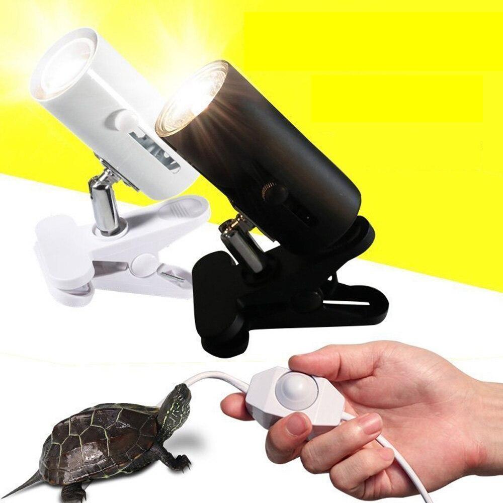 UVA+UVB 3.0 Reptile Lamp Kit With Clip-on Ceramic Light Holder Turtle Basking UV Heating Lamp Set Tortoises Lizard Lighting 220V