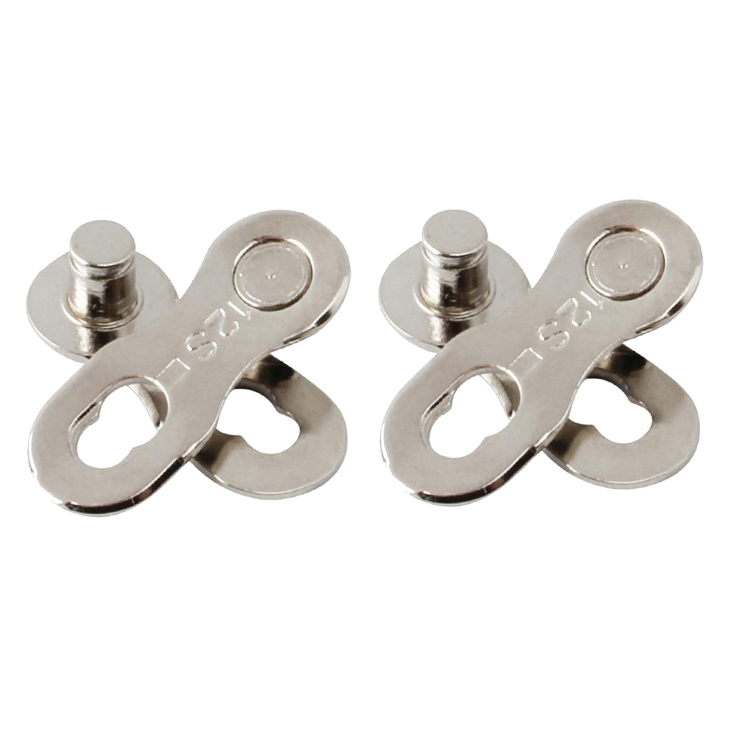 2 Pair Steel Bicycle Bike <font><b>Chain</b></font> Connector <font><b>12</b></font> Speed <font><b>Chain</b></font> Link Joint Silver image