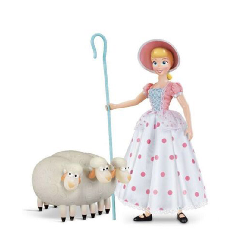 1piece 8cm Toy Story 4 Bo Peep Woody Bullseye Horse PVC Action Figure Toy Slinky Dog Woody's  Shepherdess Figures Model Doll