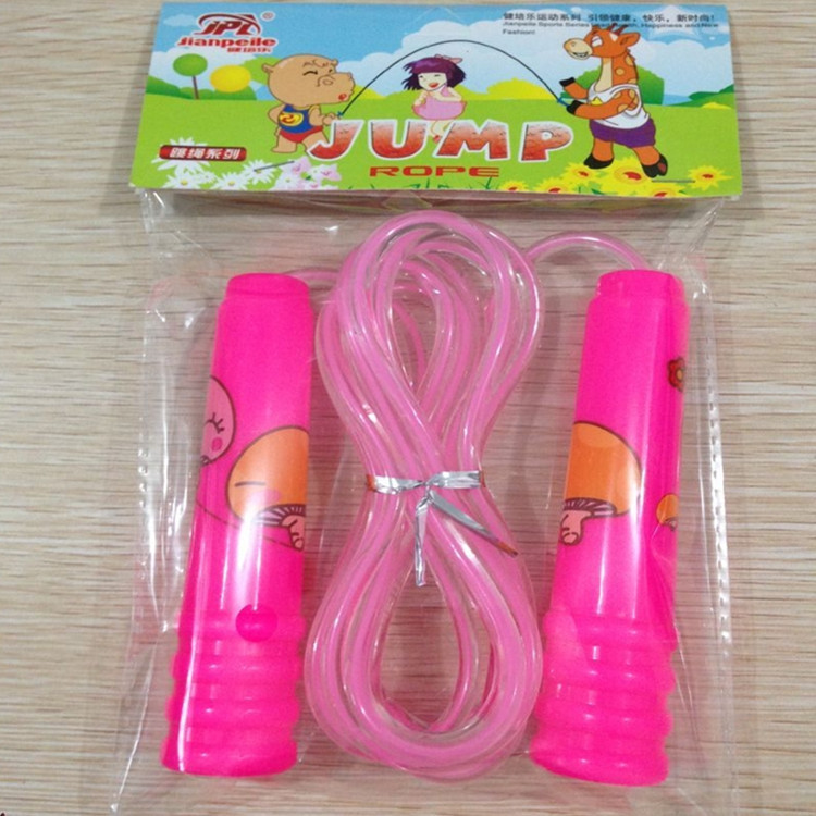Printed Plastic Primary Designated Standard Jump Rope Exclusive For Children Jump Rope Sports Educational Fitness Toy