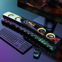 Светодиодный bluetooth-динамик altavoz, беспроводной игровой динамик, саундбар, USB 3D стерео сабвуфер, FM-звуковая панель, звуковая панель
