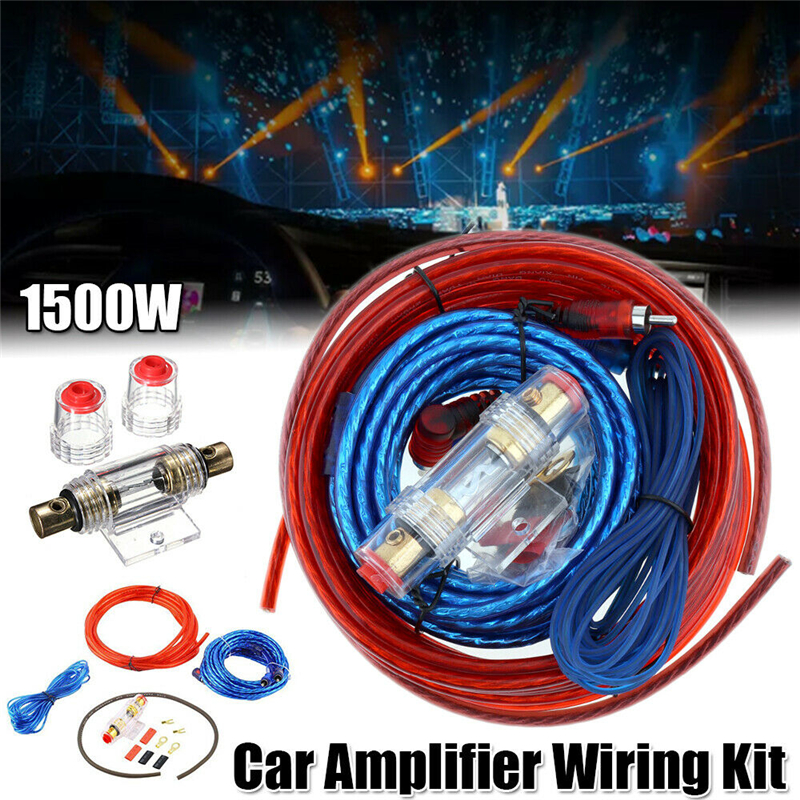 60 AMP Fuse Holder 8GA Power Cable Subwoofer Speaker Car Audio Wire Wiring Amplifier Installation Wires Kit  Amplificador Cable