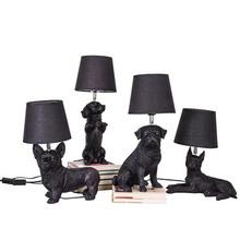 Lampa do sypialni stołowa nocna sztuka dla dzieci Deco Animal Puppy LED Nightstand Nordic Designer jadalnia lampa stołowa 220V tanie tanio WEYHOME CN (pochodzenie) Łóżko pokój WHITE Dół Puppy Table Lamp Tekstylne Ue wtyczka 90-260 v Żarówki led ART DECO