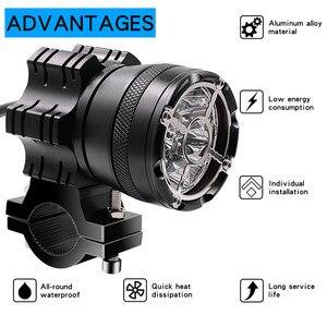 Image 3 - Bộ 2 Đèn LED Sạc Xe Máy 7800 LM Đèn Max 90W 12V 9 Hạt Đèn Moto Xe Máy Đèn Pha chống Thấm Nước Sương Mù Bóng Đèn