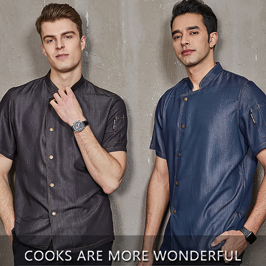 Chef Jacket Work Clothes Men 2019 New Summer Design Clinic Kitchen Hotel  Restaurant Uniforms Shirts Form Cook Cook Categories