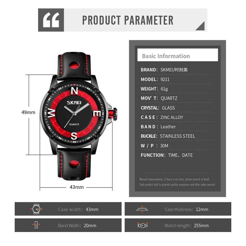 2020 SKMEI แฟชั่น 3D Big Dial Men Quartz นาฬิกาสายคล้องคอ Casual ชายนาฬิกากันน้ำนาฬิกาข้อมือ Relogio Masculino 9211