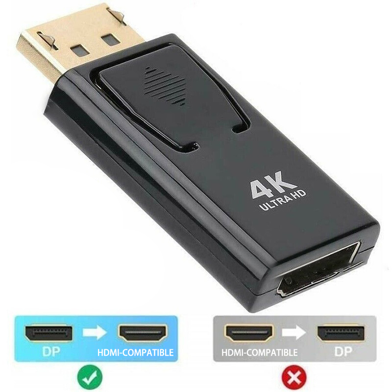 Переходник DP-HDMI-совместимый с портом дисплея Max 4K/2160P, переходник DP папа-HDMI-совместимый мама, черный, высокое качество для HDTV ПК