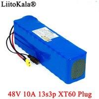 LiitoKala e-バイクバッテリー 48v 10ah 18650 リチウムイオンバッテリーパック自転車変換キット 1000 ワット 54.6v 13s3p 電池 XT60 プラグ