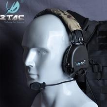Z Tac MSA Sordin 전술 액티브 슈팅 항공 파일럿 헤드셋 Softair 액세서리 소음 헬멧 헤드폰 워키 토키 Z111