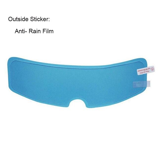 Motorcycle Helmet Anti-fog Film Anti-rain Film Nano Coating Sticker Rain Proof  Universal Inside Outside Helmet Accessories
