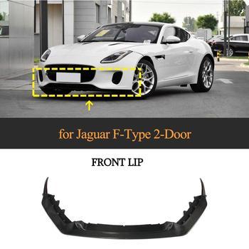 Real Carbon Fiber Front Bumper Lip Diffuser Spoiler For Jaguar F-TYPE 2018 2019 Car Front Lip Splitters Protector Spoiler