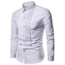 Новые дизайнерские свадебные рубашки для мужчин с длинными рукавами, модные вечерние мужские рубашки с длинными рукавами, черно-белые мужские рубашки Camisa Masculina