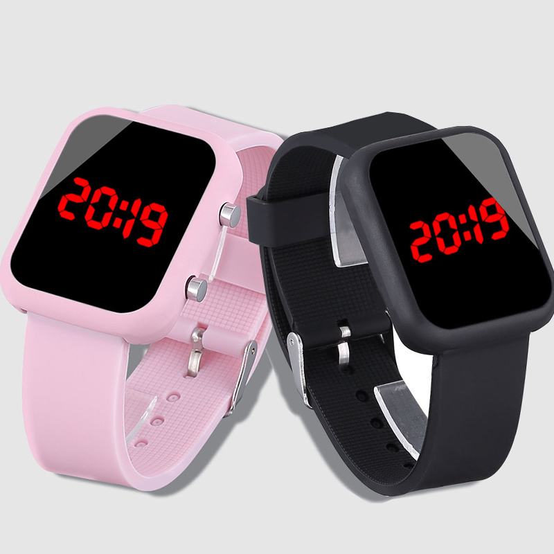 New Brand Kids Watches Black Led Silicone Watch Boys Electronic Clock Children Watches Relogio Infantil Sports Wristwatch Gifts