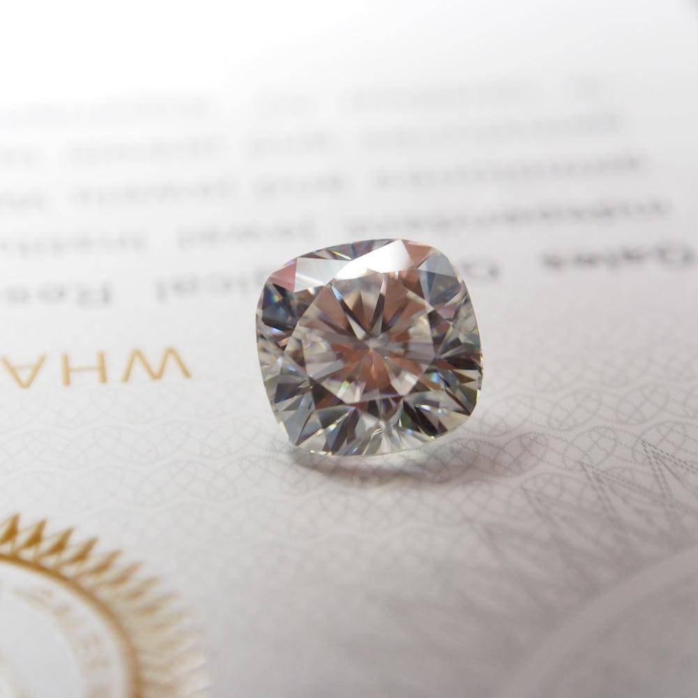 13*13 mm DE Cushion Cut White Moissanite Stone Loose VVS1 Moissanite Diamond 8 carat for Ring