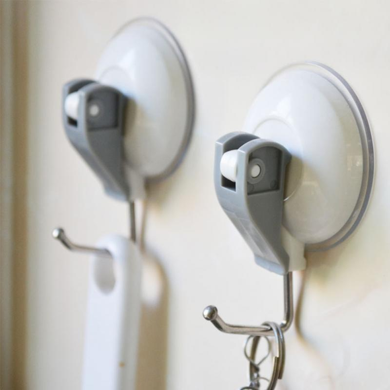 2PCS Household Powerful Vacuum Suction Cup Hooks Kitchen Bathroom Towel Strong Heavy Duty Adhesive Wall Hooks